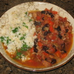 Cuban Ham and Bean Soup with Cilantro Lime Rice