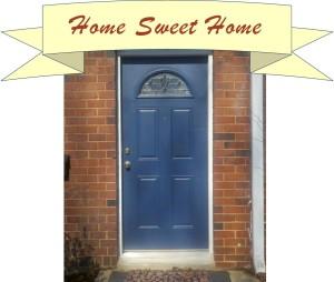 Door with banner