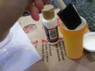 prescription bottle paint storage