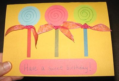 candy birthday card