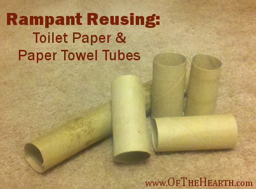 Rampant Reusing: Toilet Paper and Paper Towel Tubes