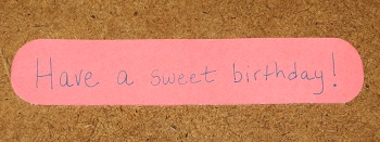 sweet birthday strip