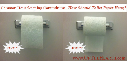 Common Housekeeping Conundrums: How Should Toilet Paper Hang?