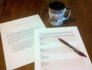 Goal setting for couples worksheet