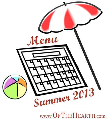 Summer 2013 Menu