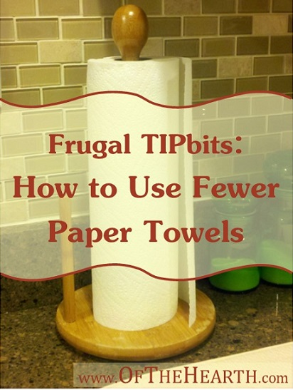 Frugal TIPbits: How to Use Fewer Paper Towels