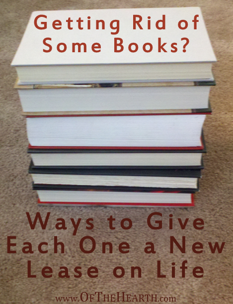 Getting rid of some books? There are several ways to do this, many of which are beneficial to you, others, or both.