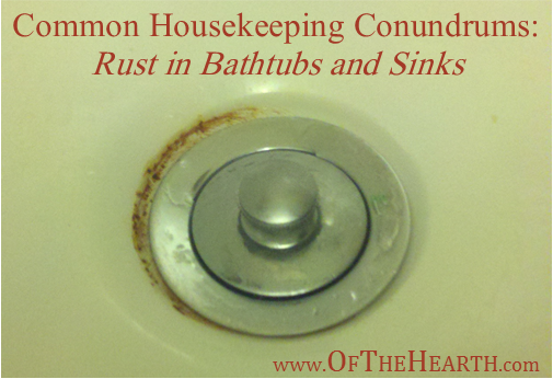 Common housekeeping conundrums rust in bathtubs and sinks - How to clean bathroom sink drain ...