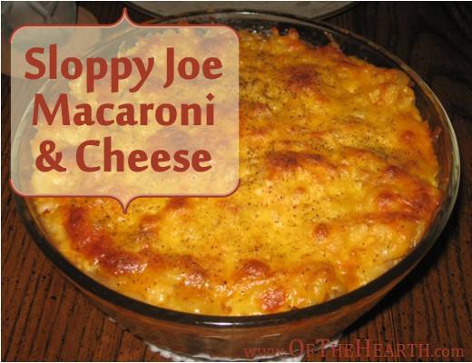 Sloppy Joe Macaroni and Cheese | Sloppy Joe Macaroni and Cheese is a yummy, stick-to-the-ribs meal. Try this affordable, easy-to-prepare dish for dinner tonight!