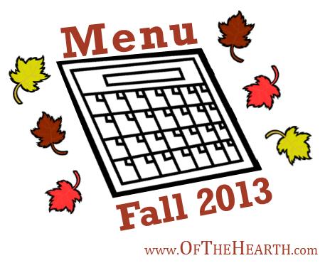 Fall 2013 Menu