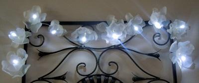 flower lights from milk jug