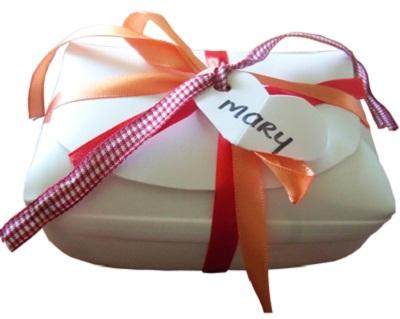 giftbox from milk jug