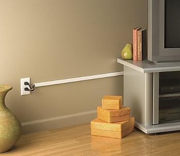 common housekeeping conundrums power cord management. Black Bedroom Furniture Sets. Home Design Ideas