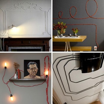 Wall art from cords