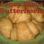 Honey Wheat Butterhorns