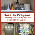 Dare to Prepare: Obtaining and Storing Disaster Preparedness Supplies