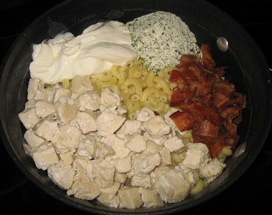 Chicken bacon ranch mac and cheese ingredients