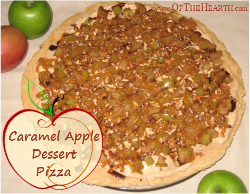 Caramel Apple Dessert Pizza | Want to put a creative twist on the classic flavor of caramel apples? Prepare a tasty and elegant Caramel Apple Dessert Pizza!