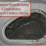 Common Housekeeping Conundrums: Lint in Clothes Dryers