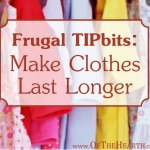 Frugal TIPbits: Make Clothes Last Longer