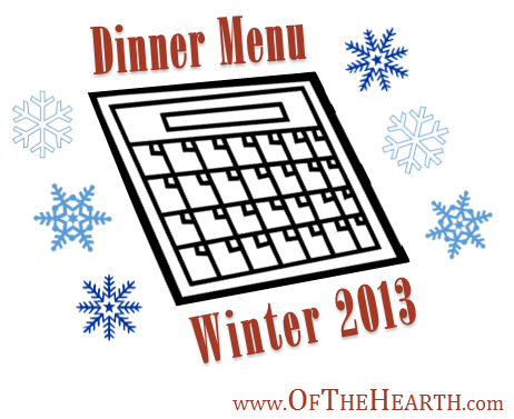 Winter 2013 Menu