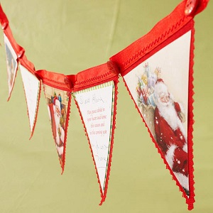 Make a banner from Christmas cards