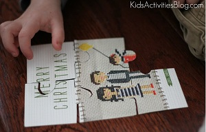 Make a puzzle from a greeting card