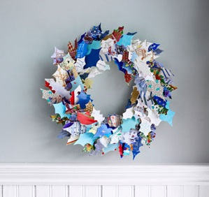 Make a wreath from greeting cards 2