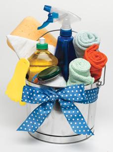 bucket as gift wrap