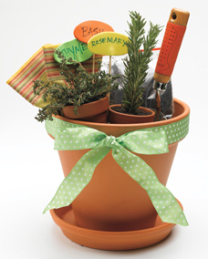 pot as gift wrap