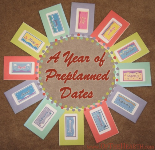 A Year of Preplanned Dates Gift Idea | Facilitate quality, one-on-one time with your spouse by giving him or her a year's worth of preplanned dates.