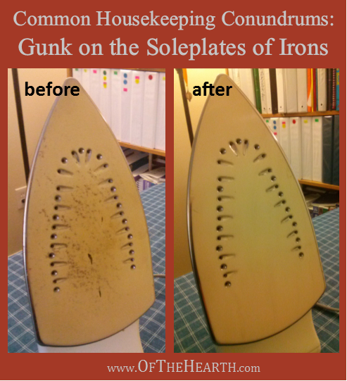 How to Remove Gunk from the Soleplate of an Iron