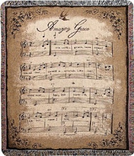 Amazing Grace sheet music blanket