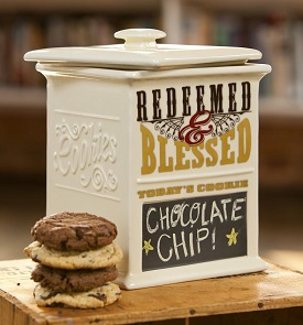 Redeemed and Blessed Cookie jar