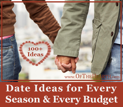 Need some fresh ideas for date night? On this list you'll find over 100 date ideas, including dates for specific seasons and budget-friendly dates.
