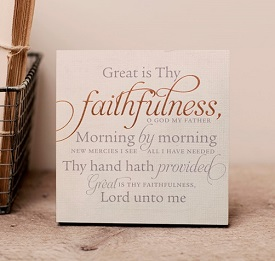 Great is thy faithfulness art