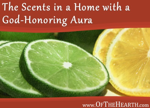 The Scents in a Home with a God-Honoring Aura | The scents in a home are a small factor that can significantly impact its overall quality. Here are some easy, healthy ways to freshen the air in your home.