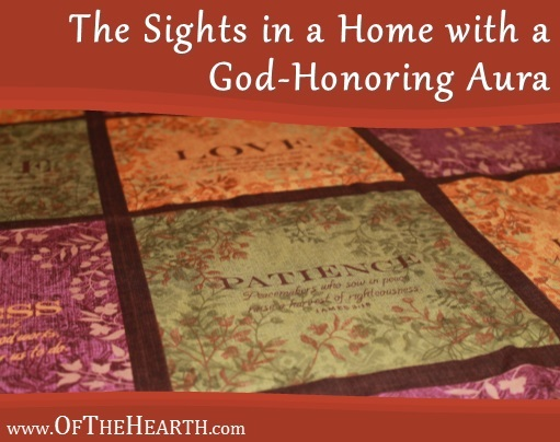 The Sights in a Home with a God-Honoring Aura | Decorating with Bible verses can benefit your family. Here are ideas for decorating with Scripture while still expressing your personal style and creativity.