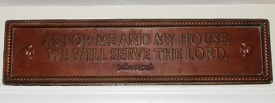 We Will Serve the Lord plaque