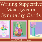 Writing Supportive Messages in Sympathy Cards