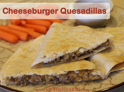 Cheeseburger Quesadillas | Cheeseburger quesadillas feature the classic taste of cheeseburgers in an easy-to-prepare quesadilla. Try this convenient, family-friendly dish tonight!