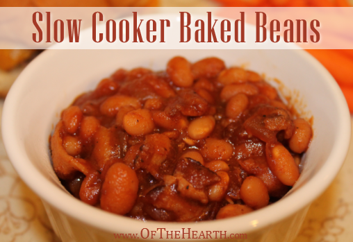 ... some slow cooker baked beans to accompany cheeseburgers for dinner