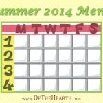 Summer 2014 Menu