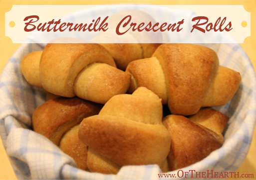 Buttermilk Crescent Rolls Recipe | Stuff soft Buttermilk Crescent Rolls with egg and bacon or sausage to make yummy breakfast sandwiches or simply serve them as a side for dinner.
