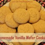 Homemade Vanilla Wafer Cookies