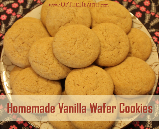 Homemade Vanilla Wafer Cookie recipe | It takes just seven ingredients to prepare classic vanilla wafer cookies in your own kitchen. Try this family favorite today!