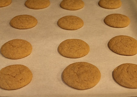 Homemade Vanilla Wafer Cookies fresh from oven