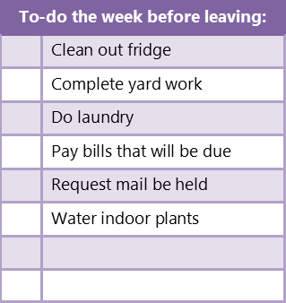 Simplify Vacation Preparation with a Packing List