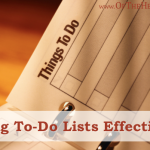 Using To-Do Lists Effectively