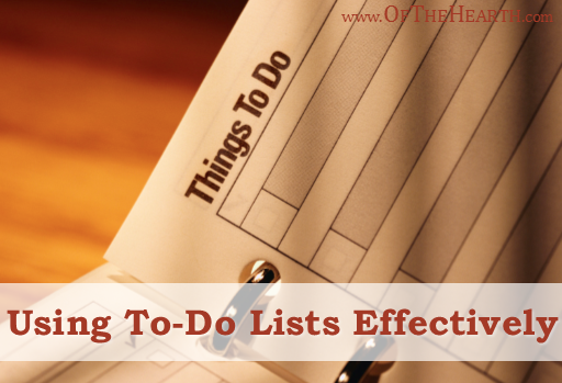 There are many pitfalls associated with to-do lists. What things can we do to make sure we use to-do lists effectively?